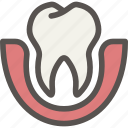 dental, dentist, loose, teeth, tooth icon