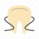 care, dental, floss, flossing, hygiene, oral, teeth icon