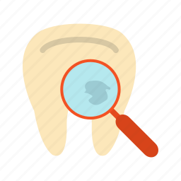 care, cavity, exam, hole, medical, teeth, tooth icon