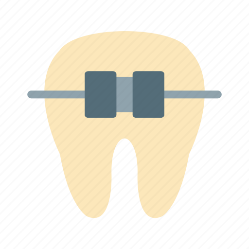 braces, dental, dentist, mouth, orthodontics, smile, teeth icon