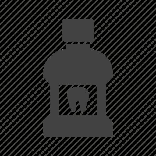 bottle, clean, liquid, mouth, mouthwash, teeth, wash icon