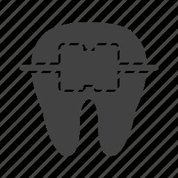 braces, dental, dentist, mouth, orthodontics, smile, teeth icon
