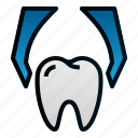 dental, dentist, extraction, health, hospital, tooth icon