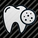 cavity, dental, dentist, health, hospital, tooth icon