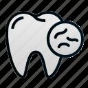 bacteria, dental, dentist, health, teeth, tooth, unhealthy icon