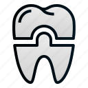 crown, dental, dentist, health, hospital, tooth icon