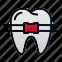 braces, dental, dentist, health, hospital, tooth icon
