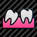 dental, dentist, health, impaction, teeth, tooth, wisdom icon