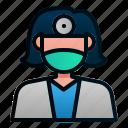 avatar, dental, dentist, doctor, female, hospital, profession icon