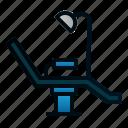 chair, dental, dentist, equipment, health, hospital icon