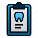 clipboard, dental, dentist, health, hospital, report, teeth