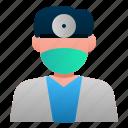 avatar, dental, dentist, doctor, hospital, male, profession icon