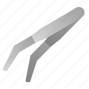 dental, dentist, equipment, tools, tweezers icon