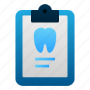 clipboard, dental, dentist, doctor, health, report, teeth