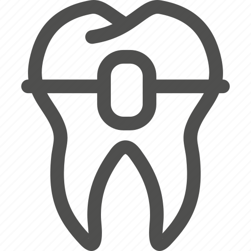 brackets, dental, dentist, teeth, tooth icon