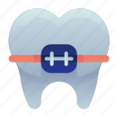 brace, dental, dentist, teeth, tooth icon