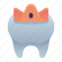 crown, dental, dentist, procedure, tooth icon