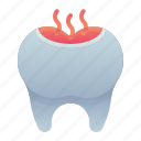 decay, dental, dentisit, teeth, tooth icon