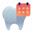 appointment, date, dental, dentist, schedule icon
