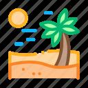desert, dune, landscape, palm, sand, sandy, snake icon