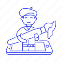 designer, artist, digital, design, male, graphic, paintbrush, paint, illustrator icon