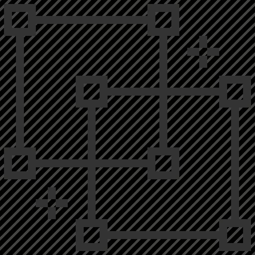 business, creative, design, graphic, grid icon