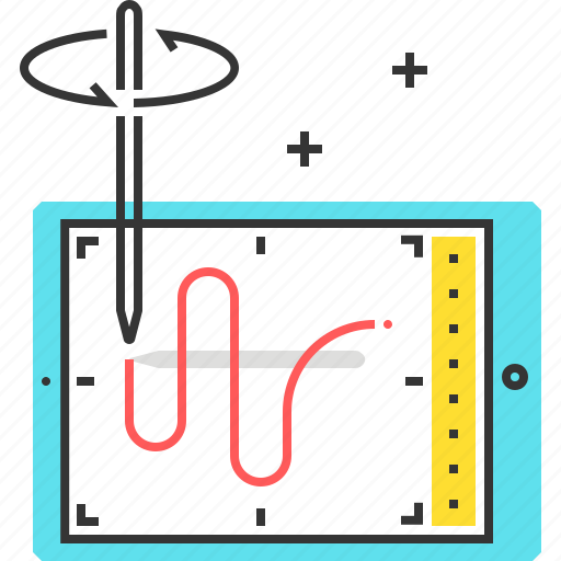 drawing, illustration, mobile, pencil, tablet icon