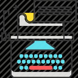 copy, keyboard, text, type, type writer, writing icon