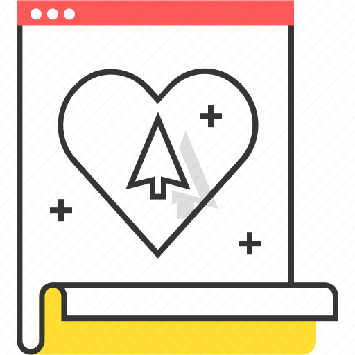 experience, heart, site, user, ux-design, web icon