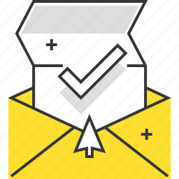 box, business, cursor, e-mail, email, mail, paper icon