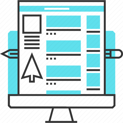 adaptive, computer, internet, responsive, social, website icon