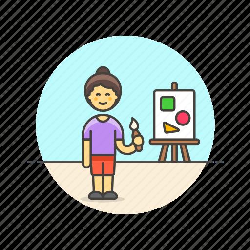 artist, brush, creative, design, office, paint, shape, work icon