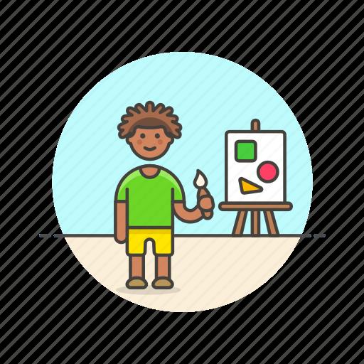 artist, brush, creative, design, man, paint, work icon