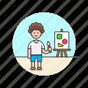 artist, brush, creative, design, man, paint, shape, work icon