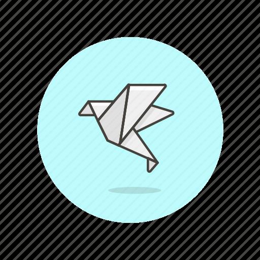 art, bird, creative, design, graphic, origami, paper icon