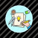art, creative, design, draw, idea, office, sketch, work icon