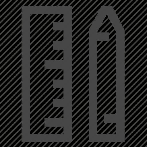 design, measure, pen, ruler icon