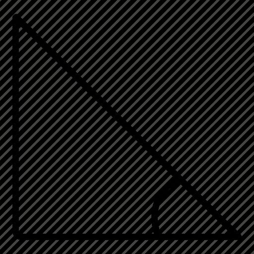 angle, arc, geometry, math, shapes icon