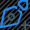 edit, nib, pen, plus, write icon