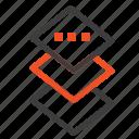 design, plane, square icon