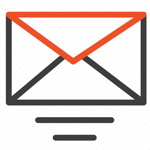 email, mail, text icon