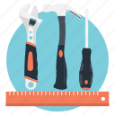 drafting, modify, repair, stationary, tools icon