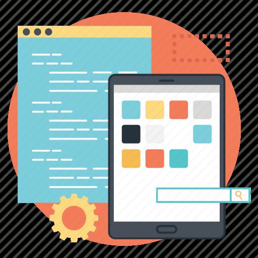 app development, app marketing, application development, software development, ui marketing icon
