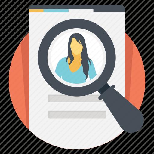 curriculum vitae, cv, personal informations, profile, resume icon