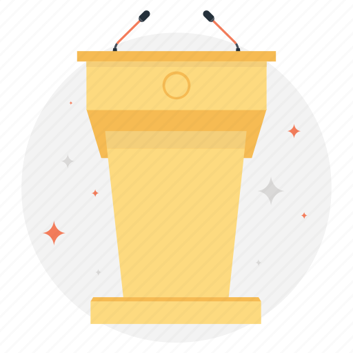 Conference, lecture, presentation, speakers, speech icon - Download on Iconfinder