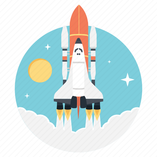 launch, missile, rocket launch, spaceship, startup icon
