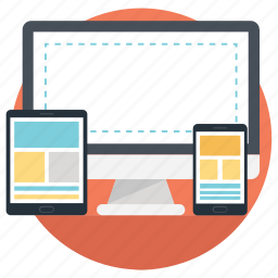 css design, fluid grid, web designing, website layout, wireframe icon