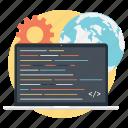 coding, computer programming, software code, software development, web coding icon
