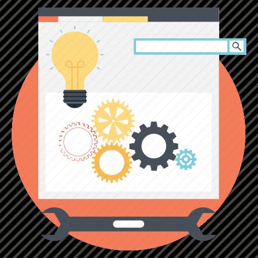develop solutions, seo performance, software development, web development, web optimization icon