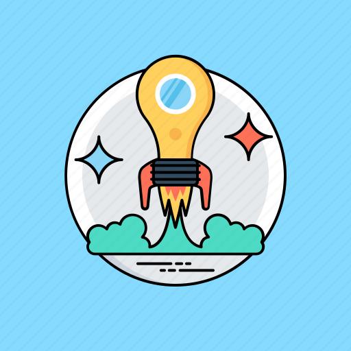 creative idea, creative startup, imagination, innovative idea, smart launch icon
